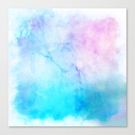 Turquoise Pink Watercolor Texture Canvas Print