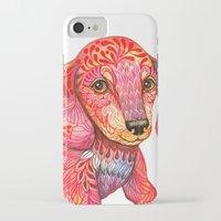 mini iPhone & iPod Cases featuring Mini Dachshund  by Ola Liola