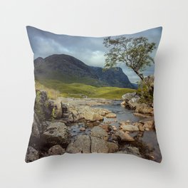 The Tree at Glencoe Throw Pillow