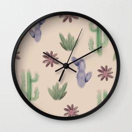 Modern Cactus Wall Clock