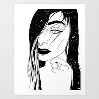 my mind is a galaxy Art Print