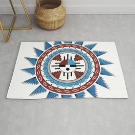 Southwest Native American Art Mandala Rug
