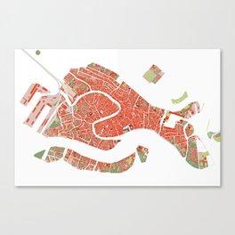 Venice city map classic Canvas Print