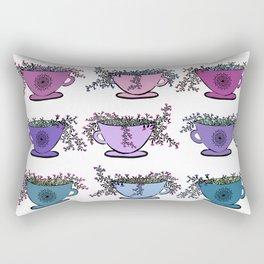Colorful Tea Leaves Pattern Rectangular Pillow