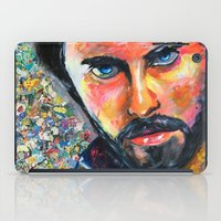 jared leto iPad Cases featuring Jared Leto by Ilya Konyukhov