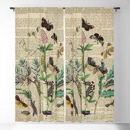 Book Art Caterpillar, Moths & Butterflies Blackout Curtain
