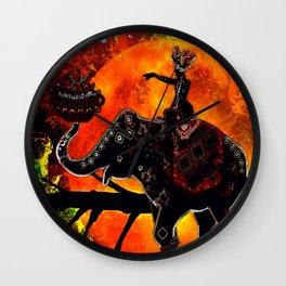ELEPHANT JOURNEY Wall Clock