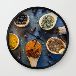 Herb and Spices. Wall Clock