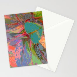 Leaf Pattern Abstract Stationery Cards