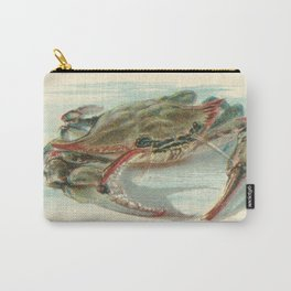 Nautical steampunk vintage crab antique book plate drawing preppy illustration art print Carry-All Pouch