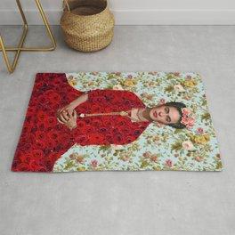 Flowers Frida Kahlo VIII Rug