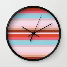 CityStripes Multi Retro Wall Clock