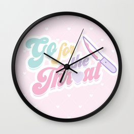 Go For the Throat Wall Clock