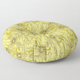 deadly nightshade chartreuse Floor Pillow