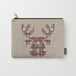 Plaid Reindeer Carry-All Pouch