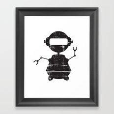 ROBO SI BW Framed Art Print