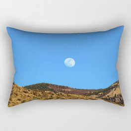 Moon Rising Over the Sandia Mountains 2 Rectangular Pillow
