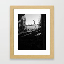Riverside Shadowed Framed Art Print