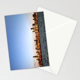 Chicago Skyline Sunset Stationery Cards