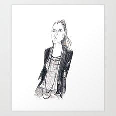 Fashion waif Art Print