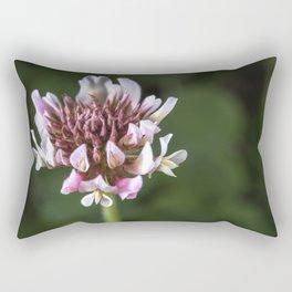 Red Clover Flower Rectangular Pillow