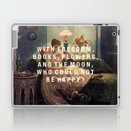 freedom, books, flowers and the moon Laptop & iPad Skin