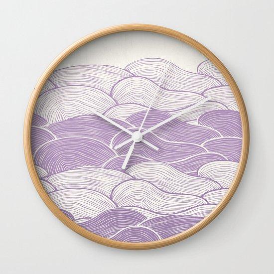 The Lavender Seas Wall Clock