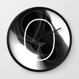 Typographic treatment of number zero. Dark Math 0. Wall Clock