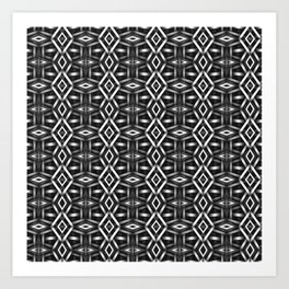 Meshed in Grey Art Print
