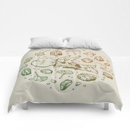Triceratops Rocks!   Leaf Green & Pumpkin Spice Ombré Comforters