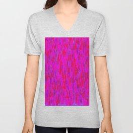 red purple verticals Unisex V-Neck