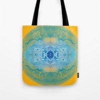 sonic Tote Bags featuring Sonic Mandala by katy zimmerman