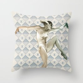 METROPOLIS DANCER Throw Pillow