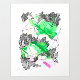 The grass is greener wherever you are Art Print