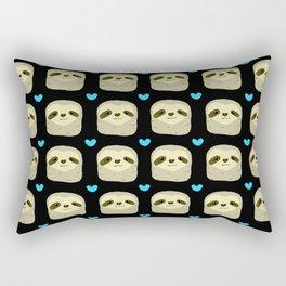 Blue Heart Sloth Rectangular Pillow