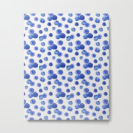 Indigo Blueberries Metal Print