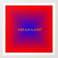 SHAZAAM Art Print