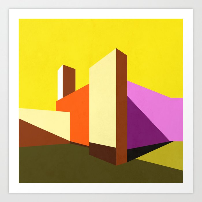 Casa Luis Barrag 225 N Modern Architecture Abstracts Art Print By Archudesign Society6