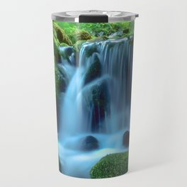 Waterfall in the forest Travel Mug