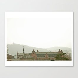 Sleepy Rooftops Canvas Print