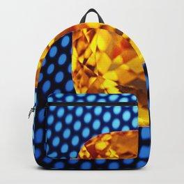 SPARKLING GOLDEN MADEIRA TOPAZ GEM BLUE PATTERN Backpack
