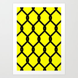 Chain-Link Fence (from Design Machine archives) Art Print