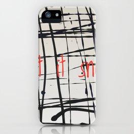 Best foot forward - Let it snow iPhone Case