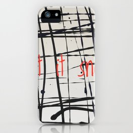 Best foot forward - Let it snow iPhone Case