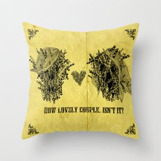 lovely couple Throw Pillow
