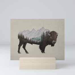 The Land of the Bison Mini Art Print