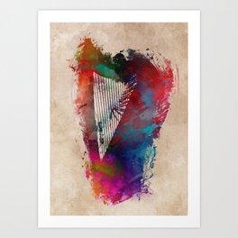 Harp #harp #art #music Art Print