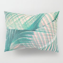 Tropical Colorful Leaves Pillow Sham