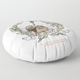 """Illustration from the video of the song by Wilder Adkins, """"When I'm Married"""" (no names on it) Floor Pillow"""