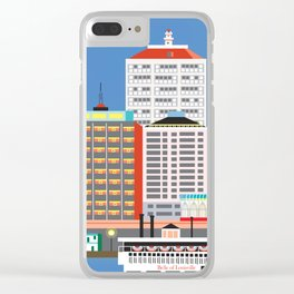 Louisville, Kentucky - Skyline Illustration by Loose Petals Clear iPhone Case